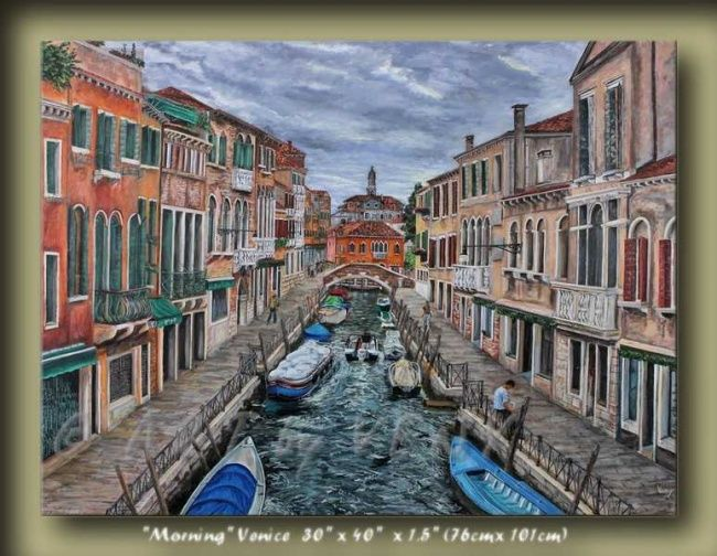 """Painting titled """"Morning in Venice C…"""" by Veny, Original Art, Oil"""