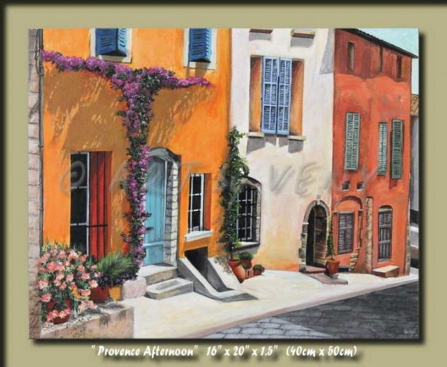 """Painting titled """"Provence Afternoon…"""" by Veny, Original Art, Oil"""