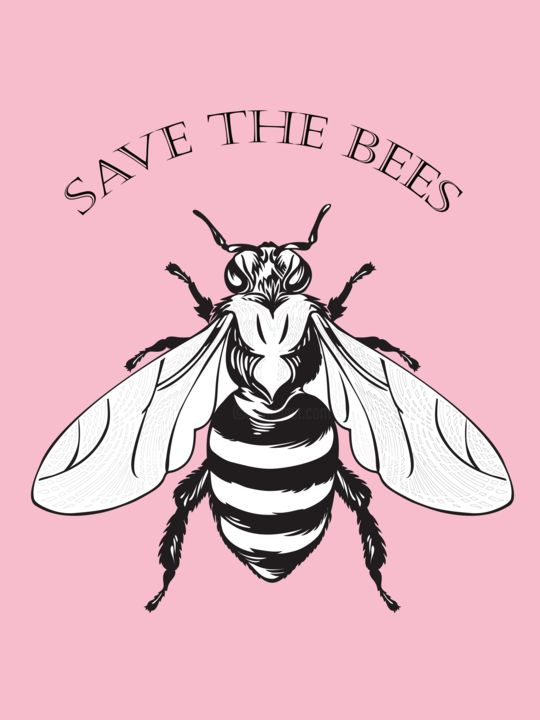 """Digital Arts titled """"Save the bees"""" by Flavia Alves, Original Art, Photo Montage"""