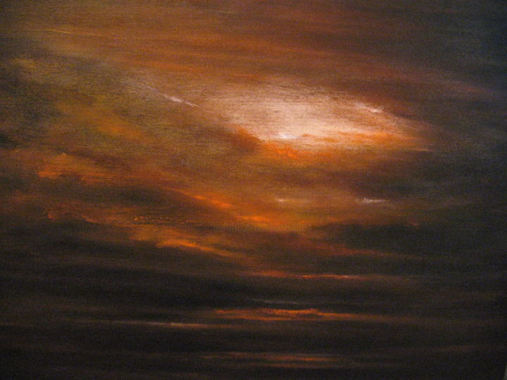 """Painting titled """"THE TIME OF SILENCE"""" by Flaten, Original Art, Oil Mounted on Stretcher frame"""