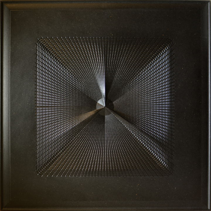 3raggi - Sculpture,  23.6x23.6x0.8 in, ©2014 by Flavio Pellegrini -                                                                                                                                                                                                                          Abstract, abstract-570, Wood, Abstract Art