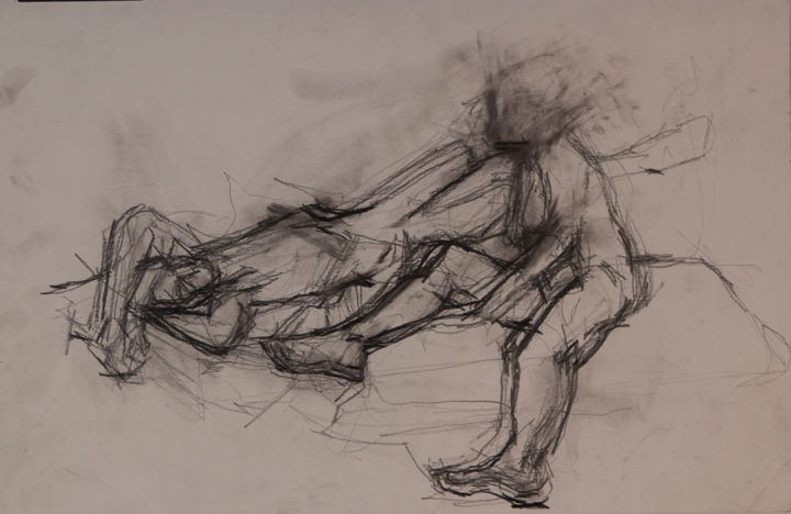 Sketchy Nudes 2 - Drawing,  11.8x17.7 in, ©2005 by Fleur Elise Noble -                                                                                                                                                                          Figurative, figurative-594, People