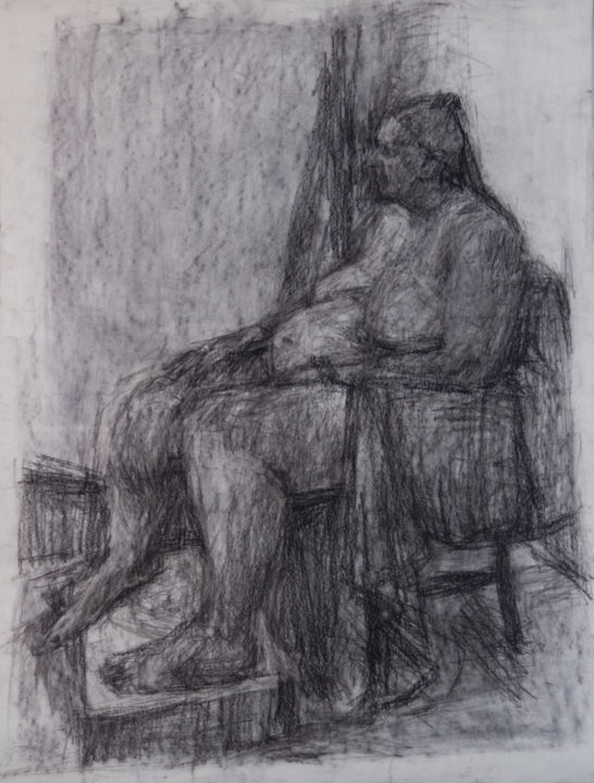 Nude Woman - Drawing,  40.6x28.4 in, ©2005 by Fleur Elise Noble -                                                                                                                                                                          Figurative, figurative-594, People