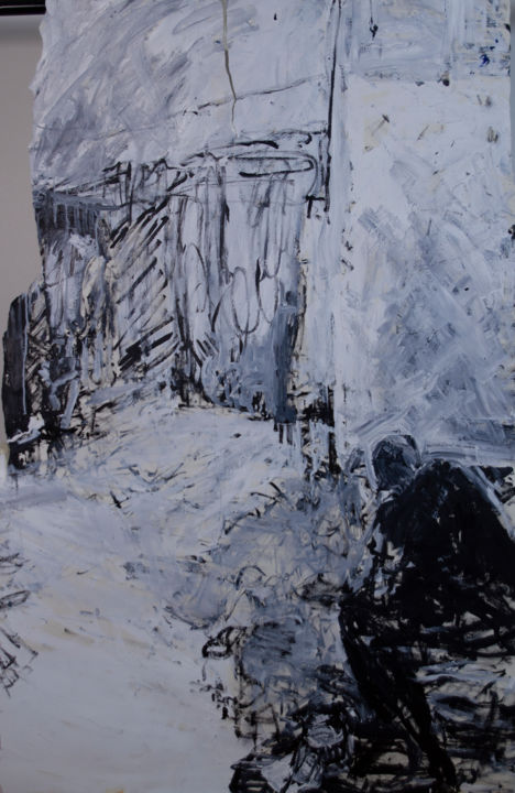 Sketchy Painting - Painting,  57.1x37.4 in, ©2005 by Fleur Elise Noble -                                                                                                                                                                                                                      Abstract, abstract-570, Landscape, People