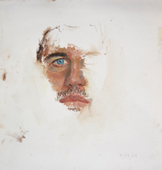Tom - Painting,  34x32 cm ©2009 by Fleur Elise Noble -                                            Portraiture, People, Tom Holt