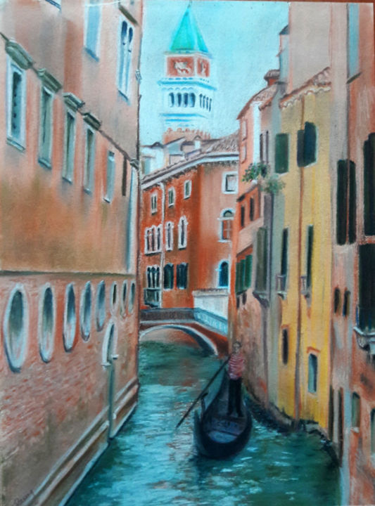 Venise - Drawing,  40x30 cm ©2014 by Martine FLEURY -