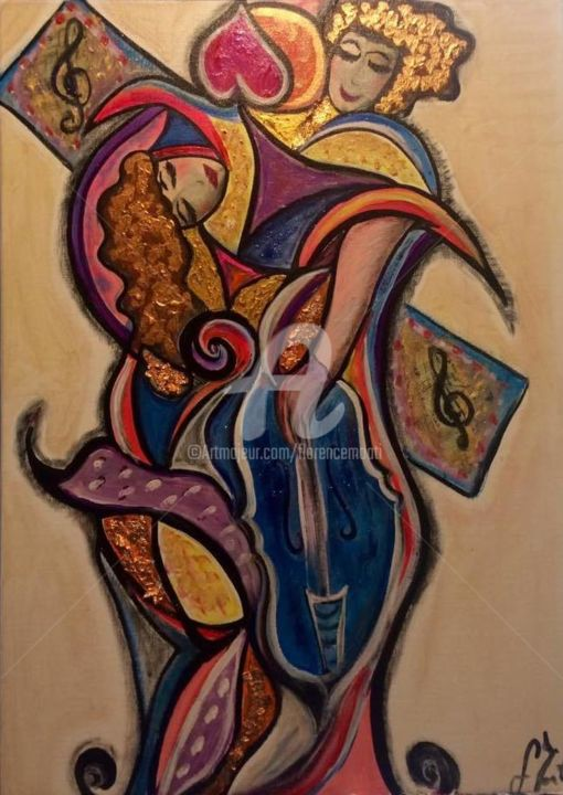 Melodie in love - Painting ©2018 by FlorenceGM -