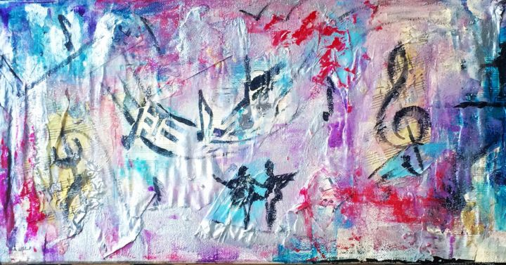 Danse/ music - Painting ©2018 by FlorenceGM -