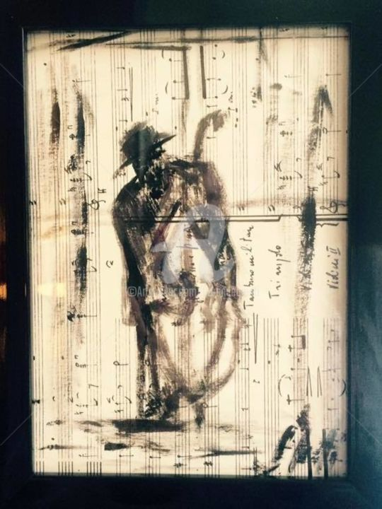 Mon musicien insasiable - Painting ©2018 by FlorenceGM -