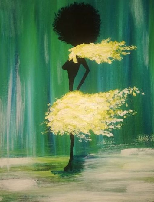 """Painting titled """"Stand Tall"""" by Florentina Trifan, Original Art, Acrylic"""