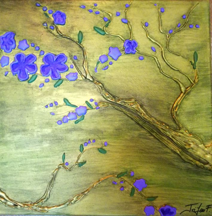 """Painting titled """"Spring"""" by Florentina Trifan, Original Art, Acrylic"""