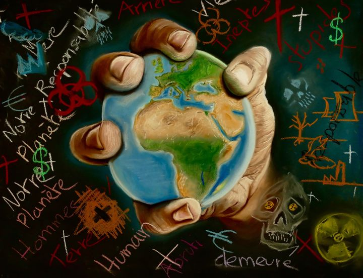 Our Earth Drawing By Florian Leu Artmajeur
