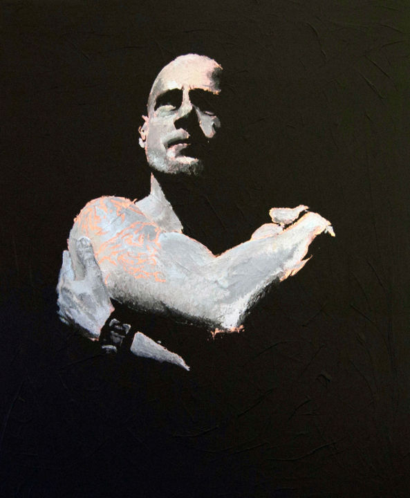 """Painting titled """"L'homme"""" by Florian Timoteo, Original Art,"""