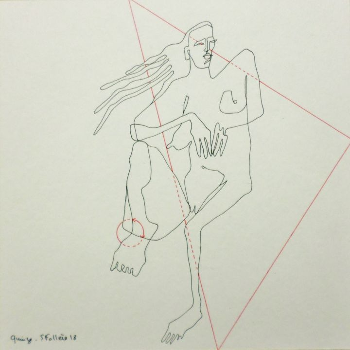 """Drawing titled """"Quinze"""" by Follère, Original Art, Other"""