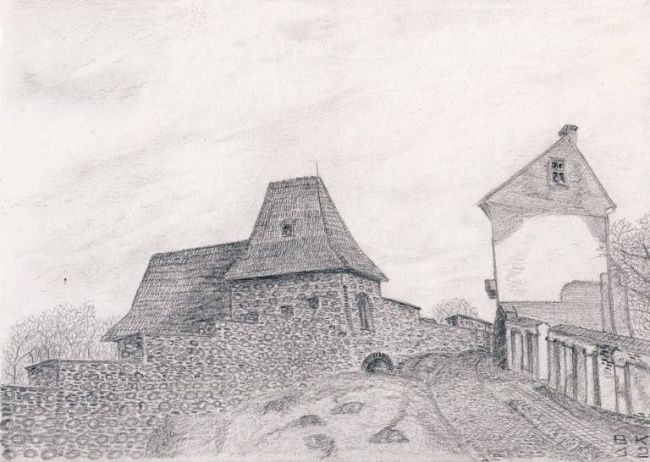 Бокшто - Drawing,  30x20 cm ©2012 by Владимиp Кольцов -