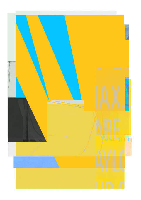 noise 4 - Digital Arts,  15.2x11.2x0.1 in, ©2020 by Adrian bradbury -                                                                                                                                                                                                                                                                                                                  Abstract, abstract-570, Abstract Art, yellow, blue, graphic