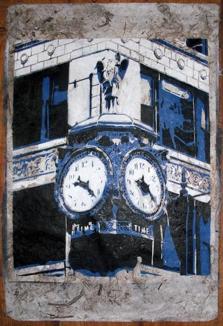 """Painting titled """"Time, Chicago"""" by Four Deuces Art, Original Art,"""