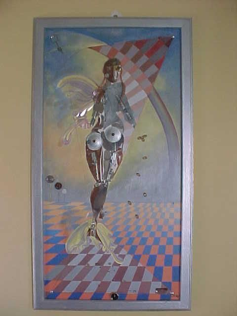 crisalida 2 - Painting,  31.5x0.4 in, ©2006 by Fanny Francia -