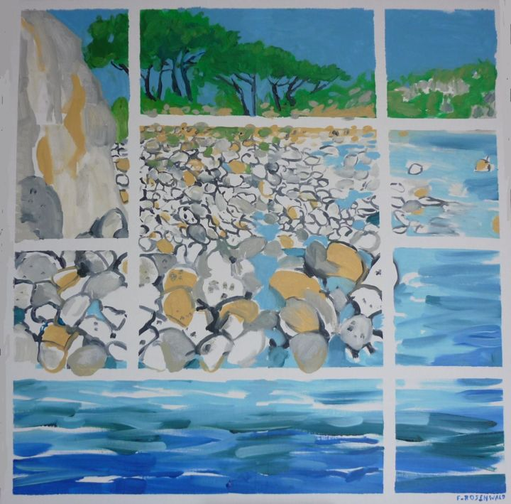 2.jpg - Painting,  31.5x31.5 in, ©2016 by Francine Rosenwald : Parcours Artistique En Images -