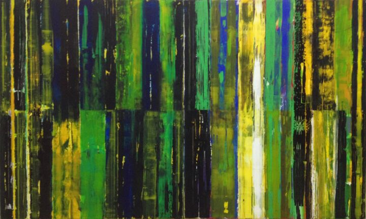 Double resistence 1 - Painting,  120x200x2 cm ©2018 by Francisco Santos -                                                            Abstract Art, Canvas, Abstract Art, art, abstract art, painting, abstract painting, Francisco Santos, wall art, wall decor, interior design, home decor, large painting