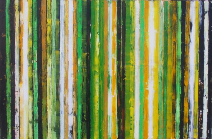 Time travel - Painting,  95x145x2 cm ©2018 by Francisco Santos -                                                            Abstract Art, Canvas, Abstract Art, art, abstract art, painting, abstract painting, Francisco Santos, waal art, wall decor, interior design, home decor, large painting