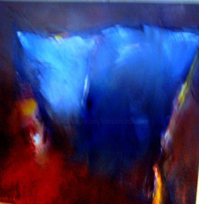 promesse - Painting,  23.6x23.6 in, ©2007 by Françoise Vandiedonck -
