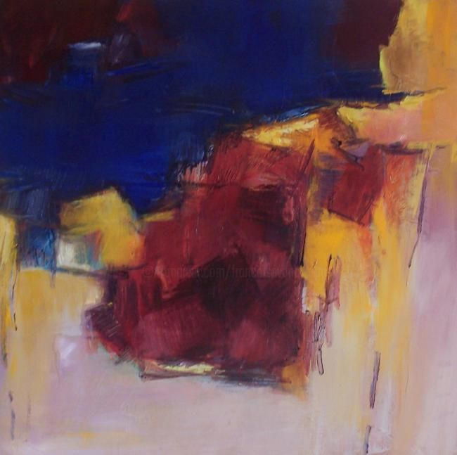 andromede - Painting,  31.5x31.5 in, ©2007 by Françoise Vandiedonck -