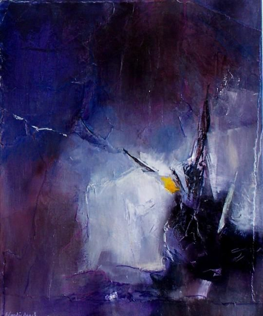 grimoire 2 - Painting,  24x19.7 in, ©2009 by Françoise Vandiedonck -