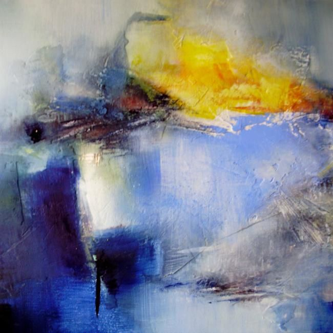 Non-bruit - Painting,  23.6x23.6 in, ©2010 by Françoise Vandiedonck -