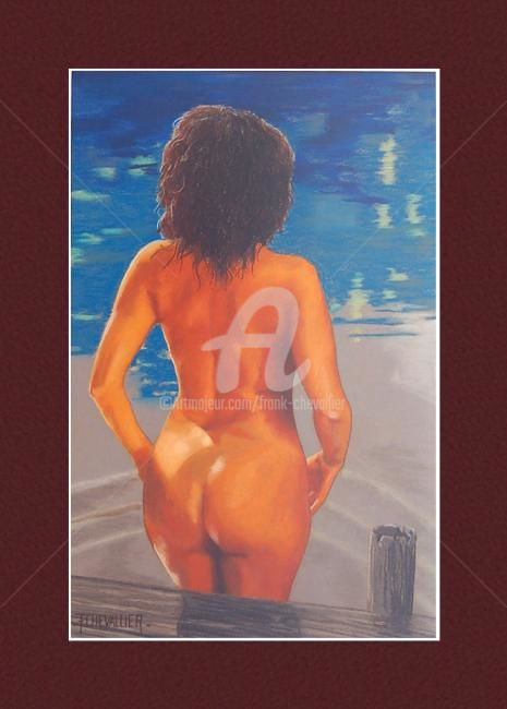 Aubade - Painting,  56x36 cm ©2009 by Frank CHEVALLIER -