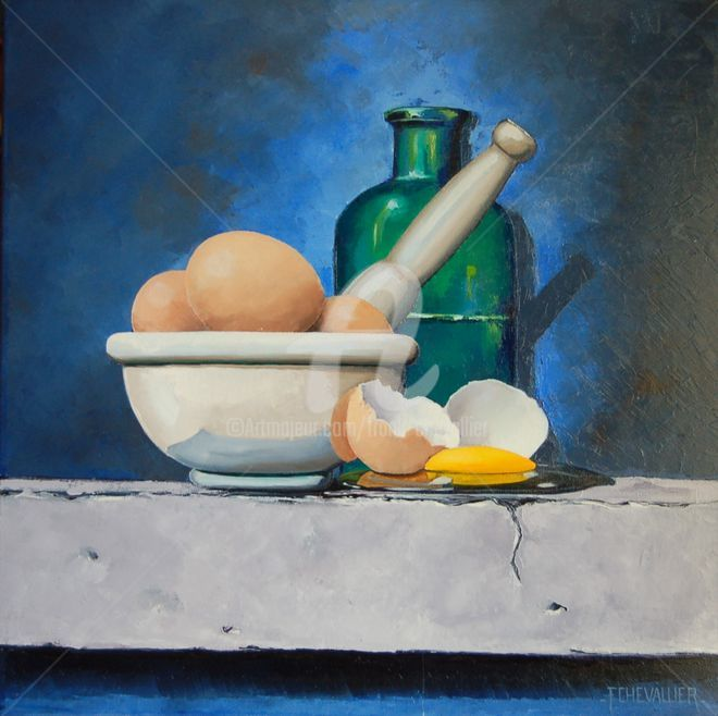 Le pilon à oeuf - ©  Pilon, Oeuf, Frank Chevallier, nature morte, contemporain Online Artworks