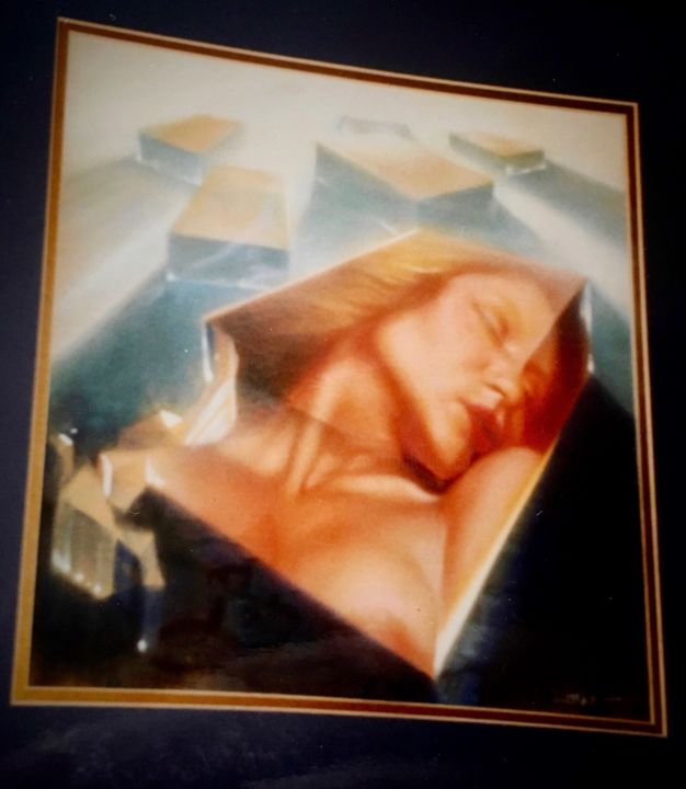 """Painting titled """"Woman in Crystal"""" by Frank Licsko, Original Art, Pastel"""