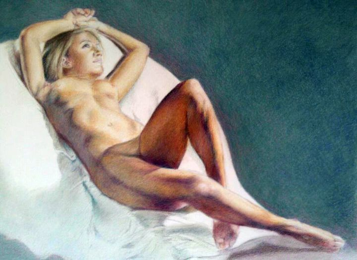 """Painting titled """"Reclining 3"""" by Fred Whitson, Original Art, Other"""