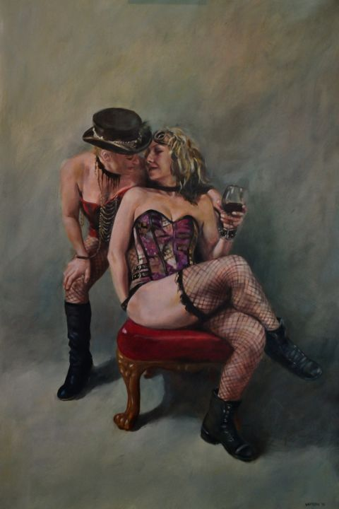 """Painting titled """"An Offer Too Good T…"""" by Fred Whitson, Original Art, Oil"""