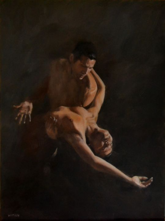 """Painting titled """"Dépendance"""" by Fred Whitson, Original Art, Oil"""