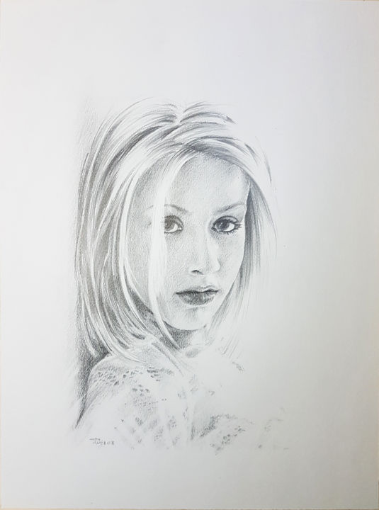 Christina Aguilera Drawing By Frédéric Berrin Artmajeur