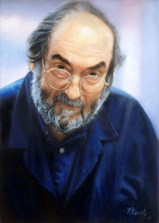 Stanley Kubrick - Painting,  27.6x19.7x0.8 in, ©2019 by Frederic Reverte -                                                                                                                                                                          Figurative, figurative-594, Portraits