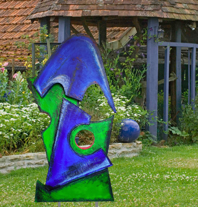 Bushi - Sculpture,  162 cm ©2019 by Frédéric Didillon -                            Abstract Art, art, contemporain, modern, moderne, garden, jardin, park, parc
