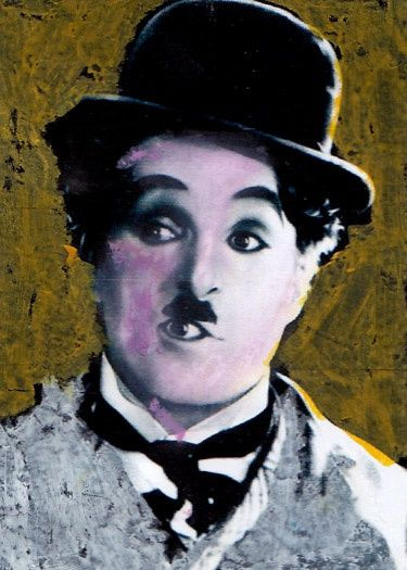 """Painting titled """"chARLIe_chAPliN_"""" by Frederick Epistola, Original Art, Oil"""