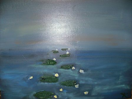Lily Pads to Nowhere - Painting, ©2008 by Kathleen Reilly -