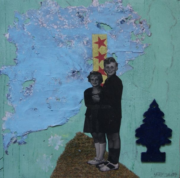 """Painting titled """"You and me brother"""" by Freja, Original Art, Oil"""