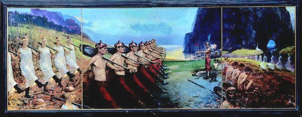 """Painting titled """"March"""" by Fritz Jakobsson, Original Art,"""