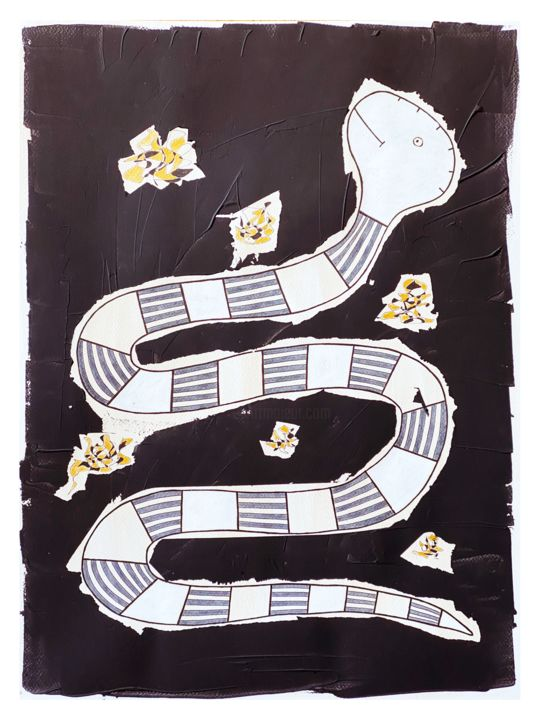 """Drawing titled """"l'or vers"""" by Tomé, Original Art, Ink"""