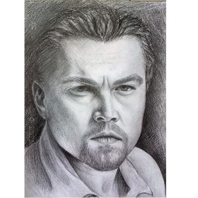 Leo - Drawing,  24x33 cm ©2012 by Gabriele Magrì -                        Black and White