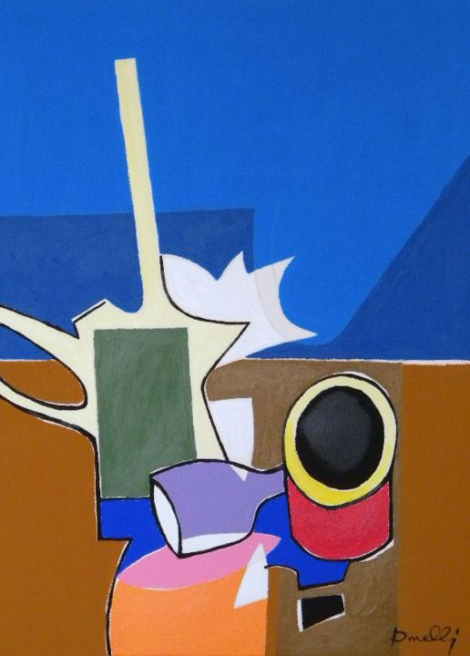 Composizione metafisica - Painting,  29.9x22.1 in, ©2013 by Gabriele Donelli -