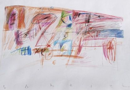 """Drawing titled """"Signs"""" by Gabriel Mihalache, Original Art,"""