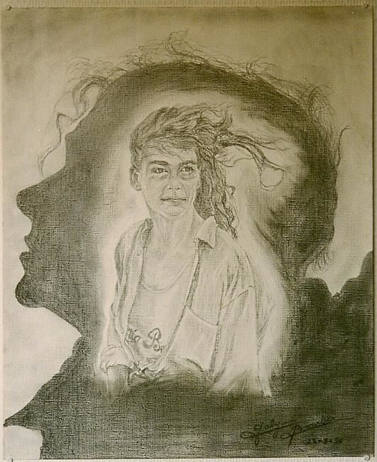 Florence - Drawing,  25.6x19.7 in, ©1998 by Gaby Bourlier -
