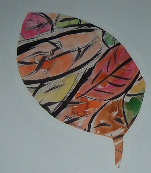 """Painting titled """"leaves"""" by Gail Fletcher, Original Art,"""