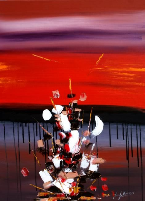 fête du temps - Painting,  31.9x23.6 in, ©2011 by Jean-Louis Gaillard -                                                                                                                          Expressionism, expressionism-591