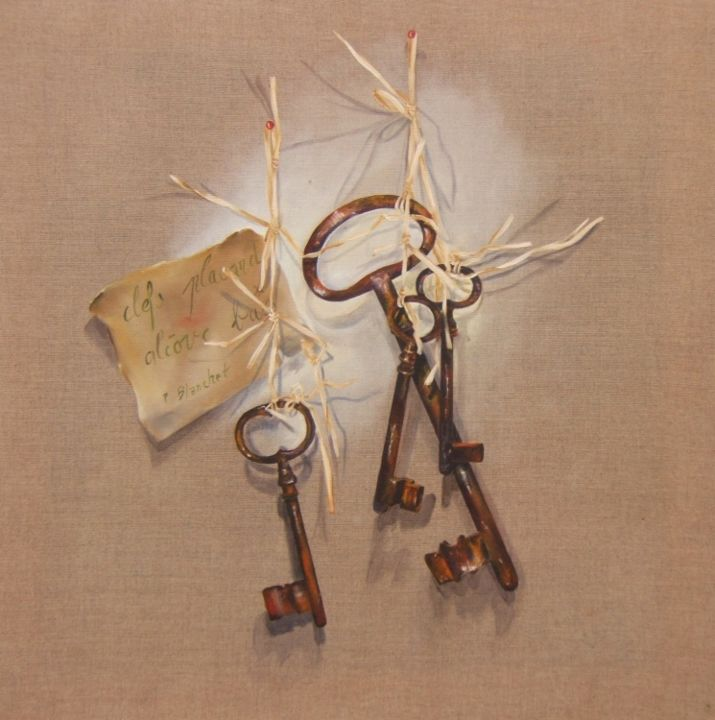 3 clefs - Painting, ©2013 by Patricia Blanchet -